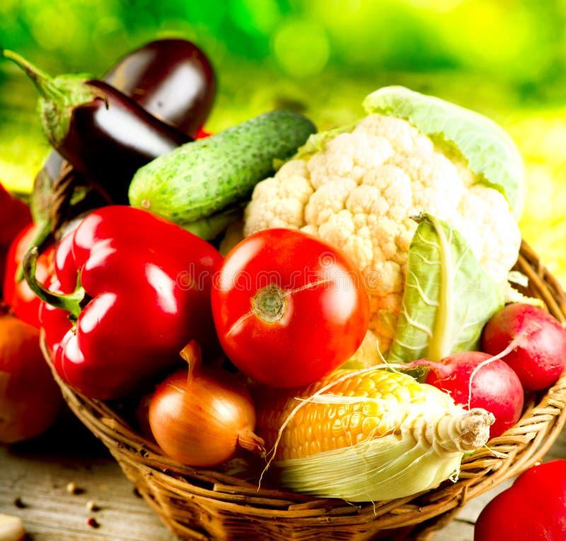 Vegetais orgânicos saudáveis foto de stock