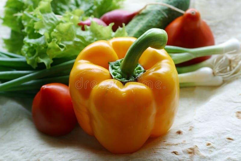 Vegetais para a salada - 1 imagens de stock royalty free