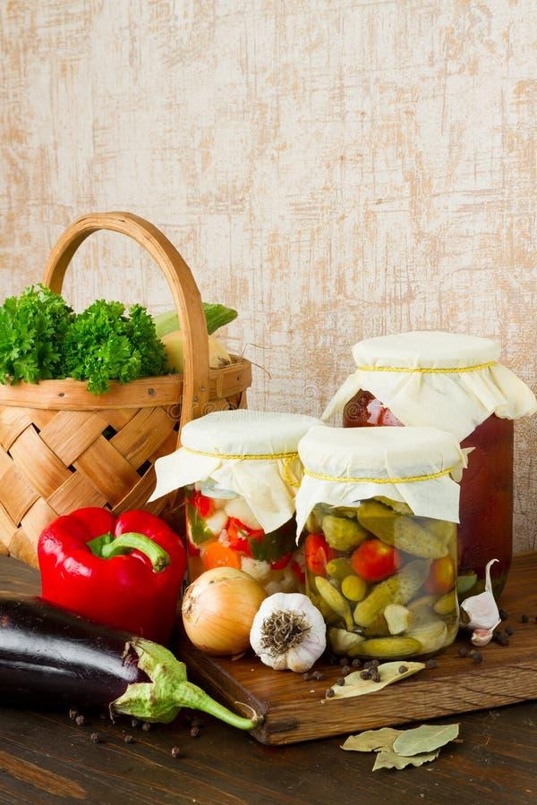 Vegetais preservados foto de stock royalty free