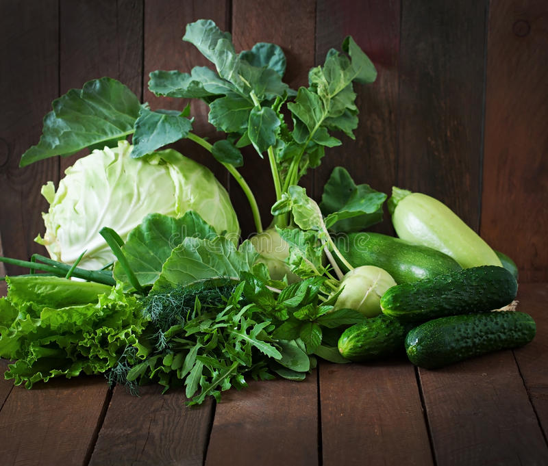 Vegetais verdes foto de stock royalty free