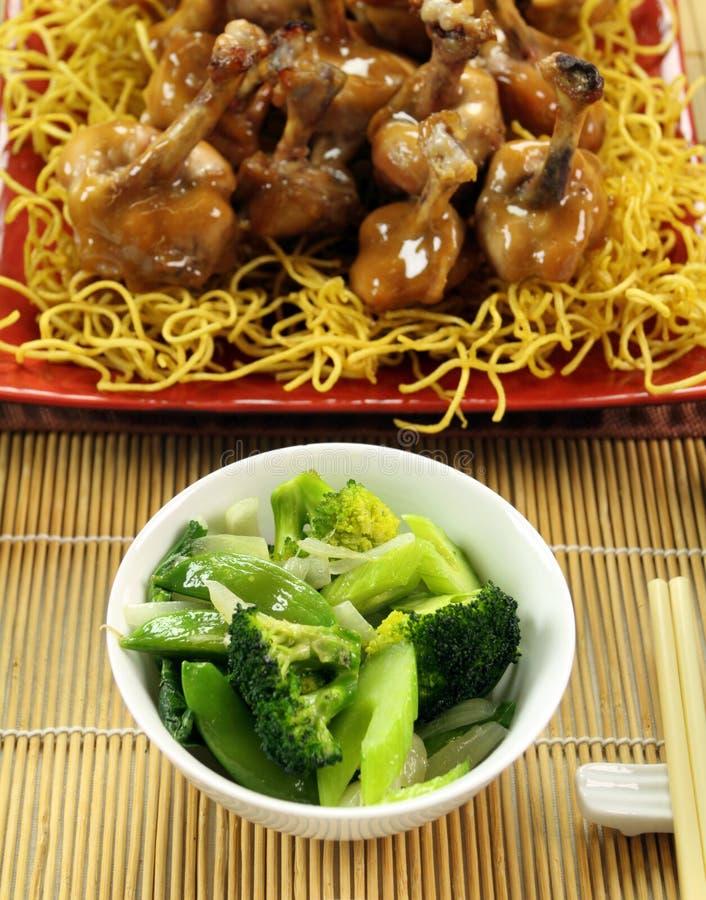 Vegetais verdes asiáticos fotografia de stock