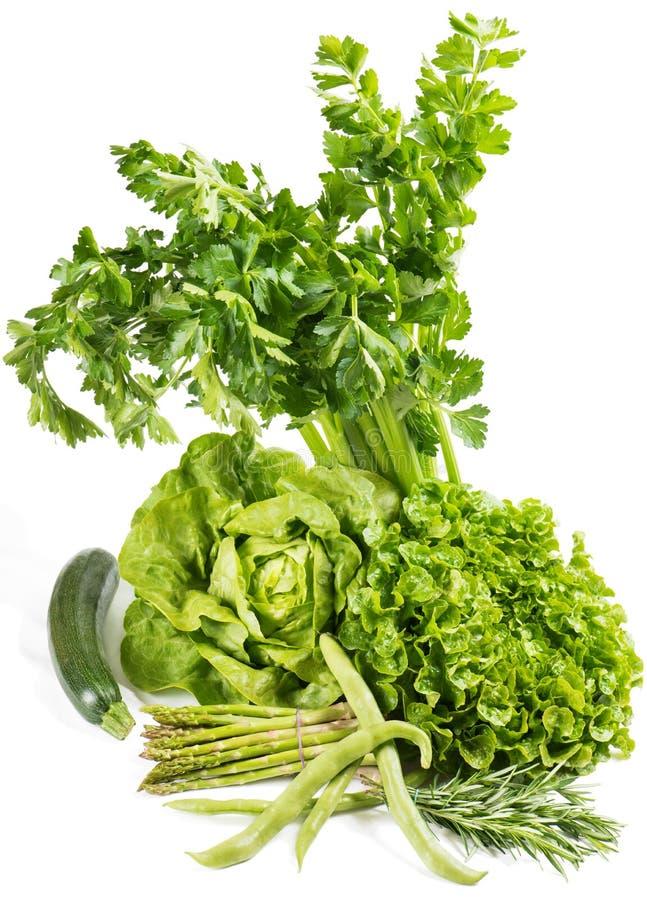 Vegetais verdes frescos fotos de stock royalty free