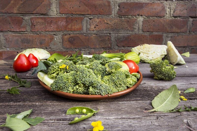 vegetais verdes saudáveis frescos imagens de stock royalty free