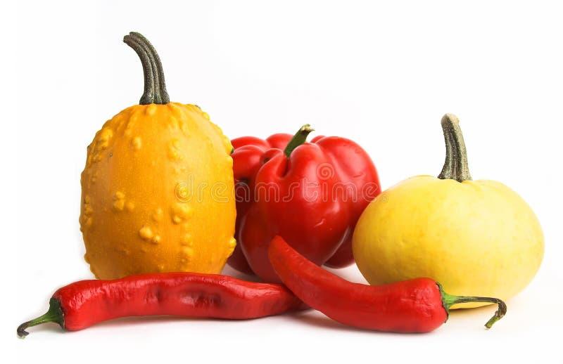 Vegetais vermelhos e amarelos