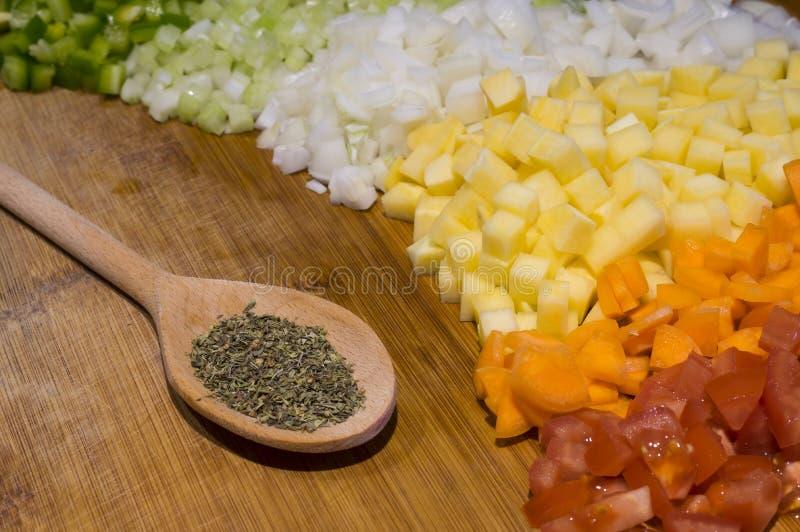 Vegetal ингридиенты супа стоковая фотография
