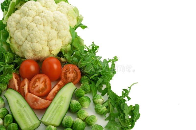Vegetal do grupo no fundo branco foto de stock