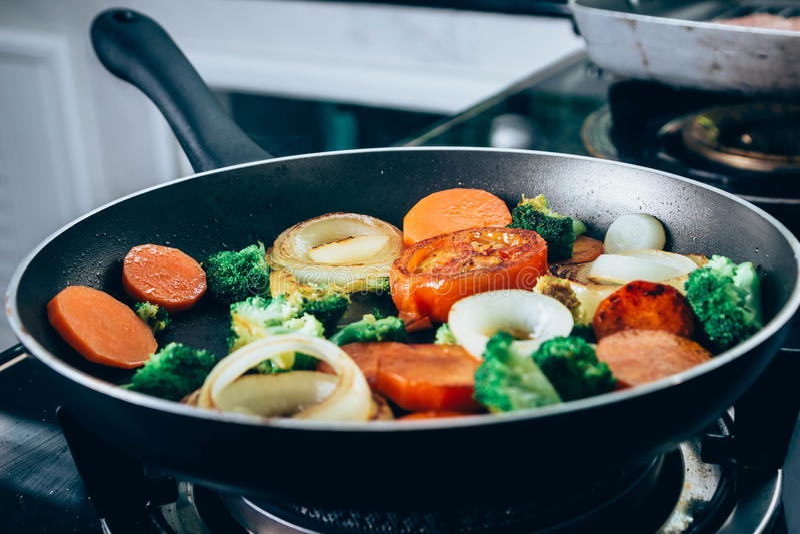 Vegetal grelhado fotografia de stock royalty free