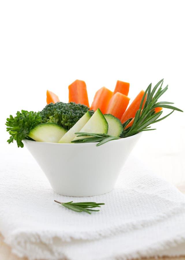 Vegetal na bacia imagem de stock