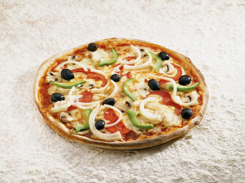 Vegetale della pizza fotografia stock