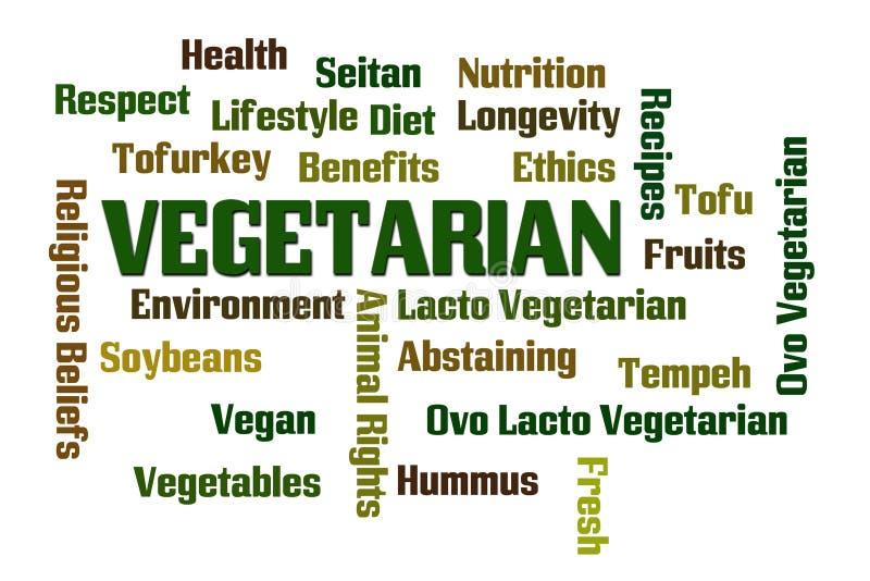 vegetariër stock illustratie