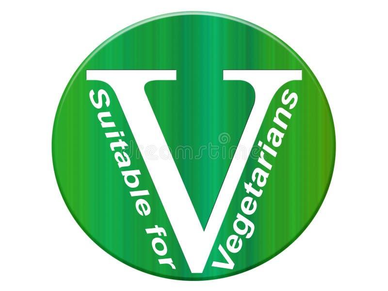 Vegetariër V royalty-vrije illustratie