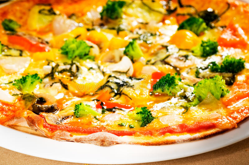 vegetarian пиццы стоковое изображение rf