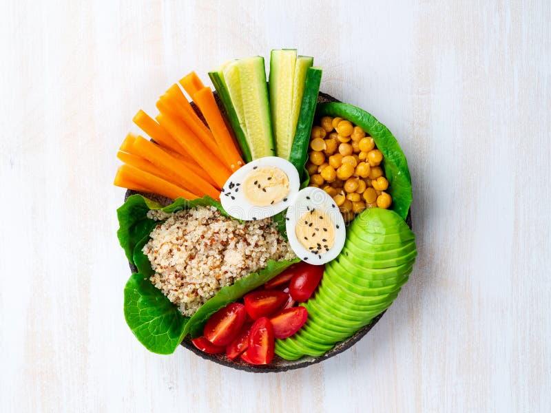 Vegetarian Buddha's bowl, a mix of vegetables. Avocado, quinoa, stock images