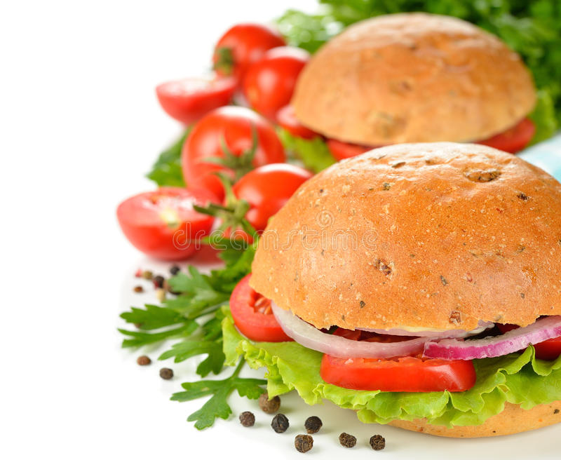 Vegetarian burger royalty free stock photography