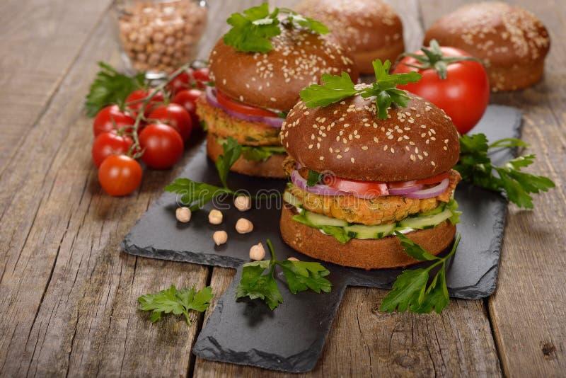 Vegetarian burger stock photography