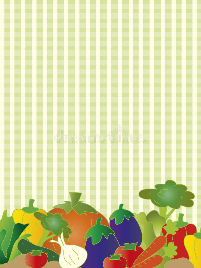 Vegetarian Card Royalty Free Stock Images