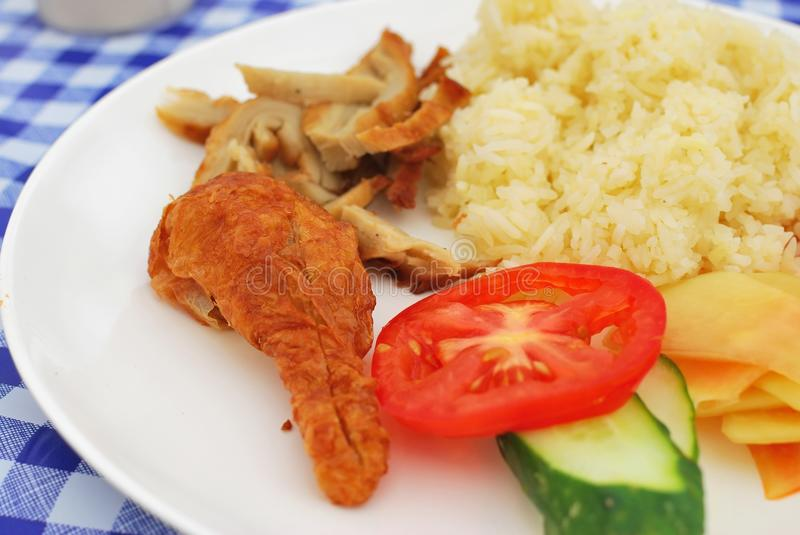 Download Vegetarian Chicken Rice With Salad Royalty Free Stock Photography - Image: 13194967