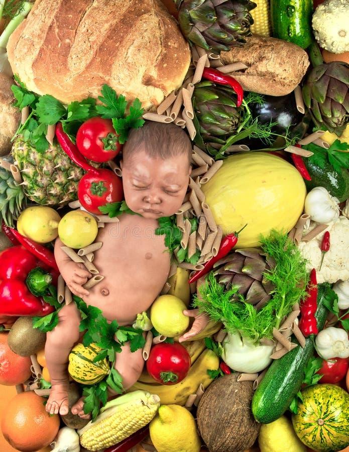 Download Vegetarian Child stock image. Image of artichoke, banana - 27863811