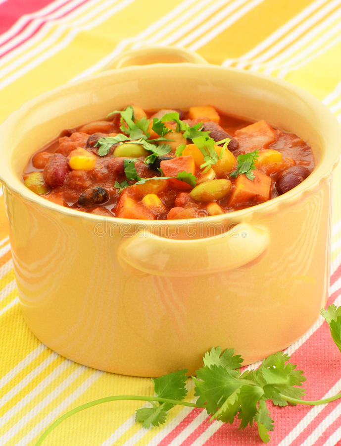 Download Vegetarian Chili stock photo. Image of onion, chickpeas - 40979372