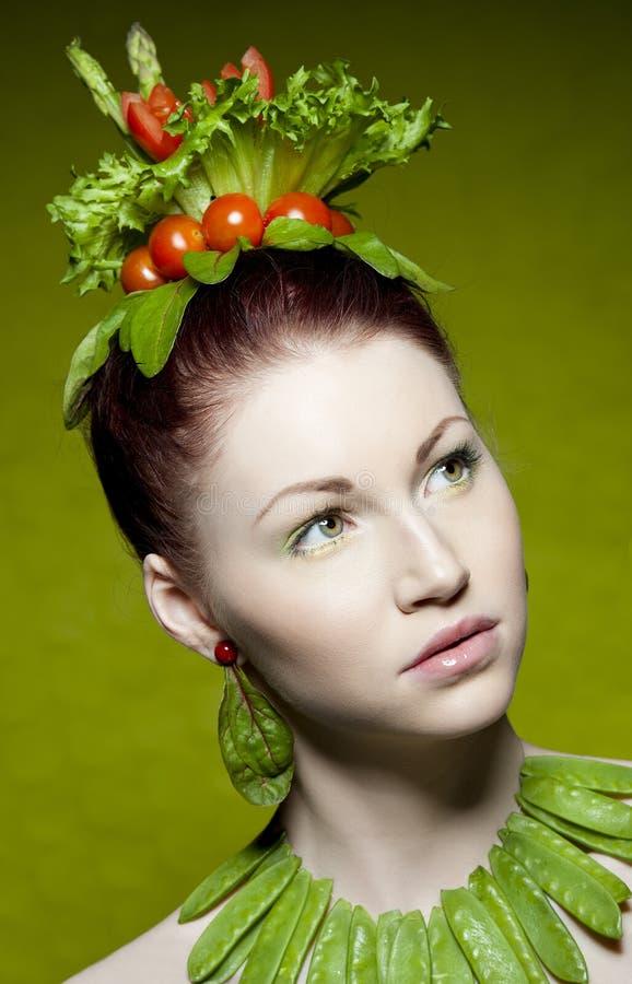Vegetarian fashion stock photos