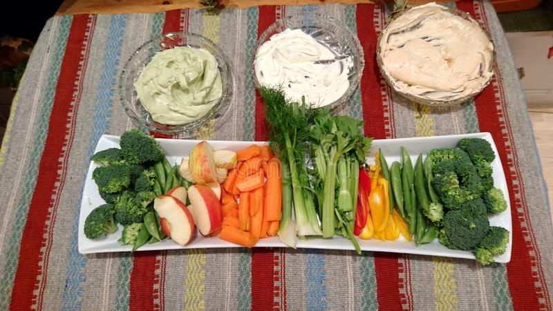 Vegetarian Fingerfood Plate With Dip stock photography