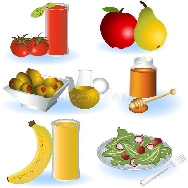 Vegetarian food 2. A collection of different Vegetarian food icons - part 2 vector illustration