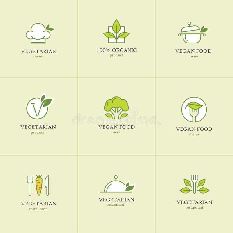 Vegetarian food icons set1 royalty free illustration