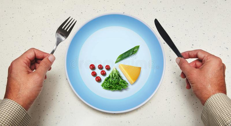 Vegetarian food on a plate royalty free stock image