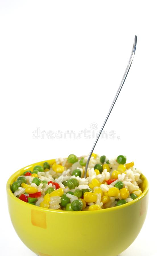 Vegetarian food. Risotto royalty free stock image
