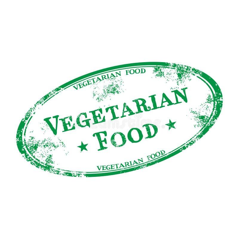 Vegetarian food rubber stamp stock image