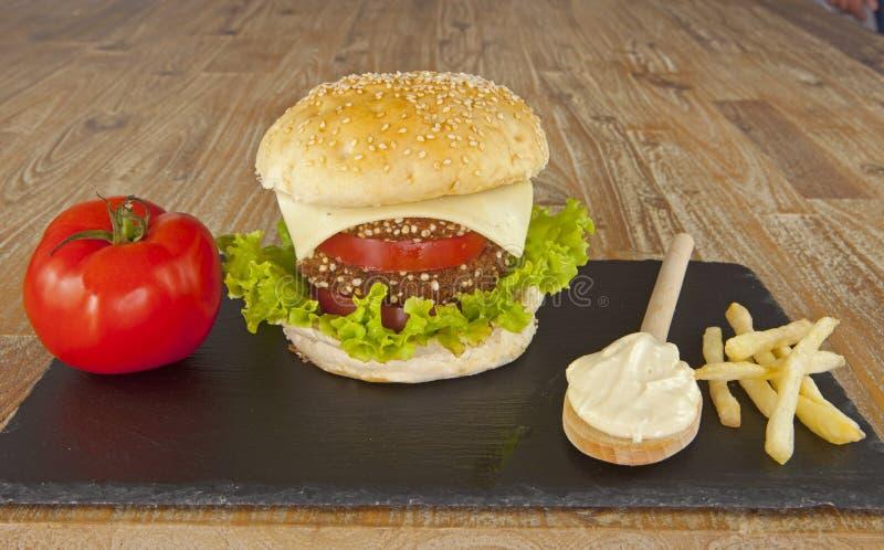 Vegetarian Hamburger royalty free stock photos