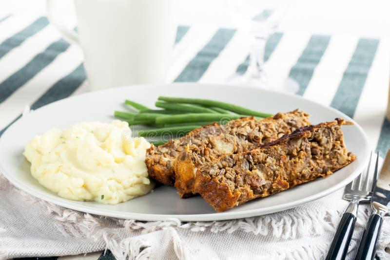 Vegetarian Lentil Loaf royalty free stock photos