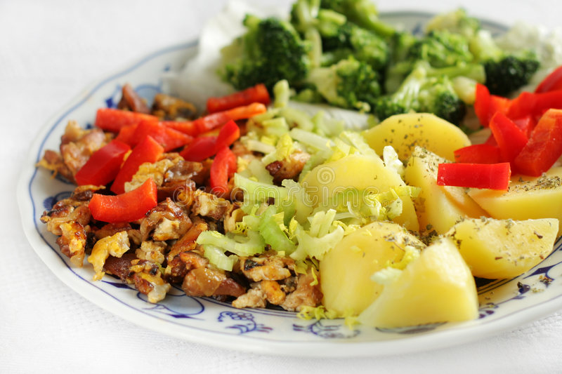 Vegetarian Lunch Royalty Free Stock Photo