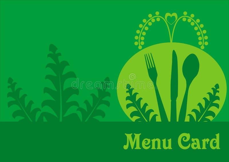 Vegetarian Menu Card Design Royalty Free Stock Image