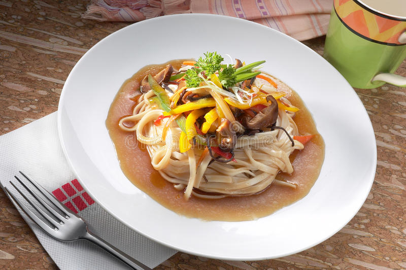 Vegetarian Noodle Stock Photography