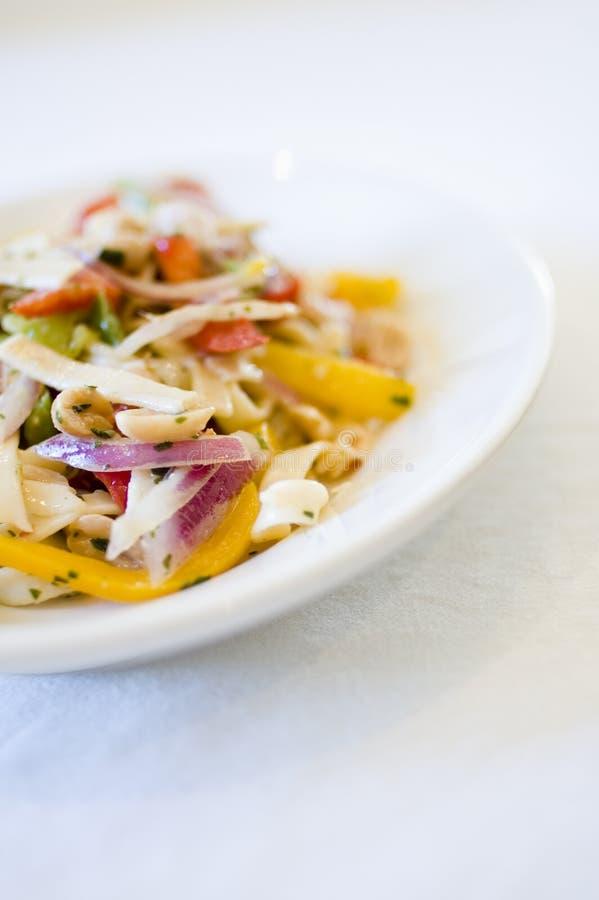 Vegetarian pasta stock photos