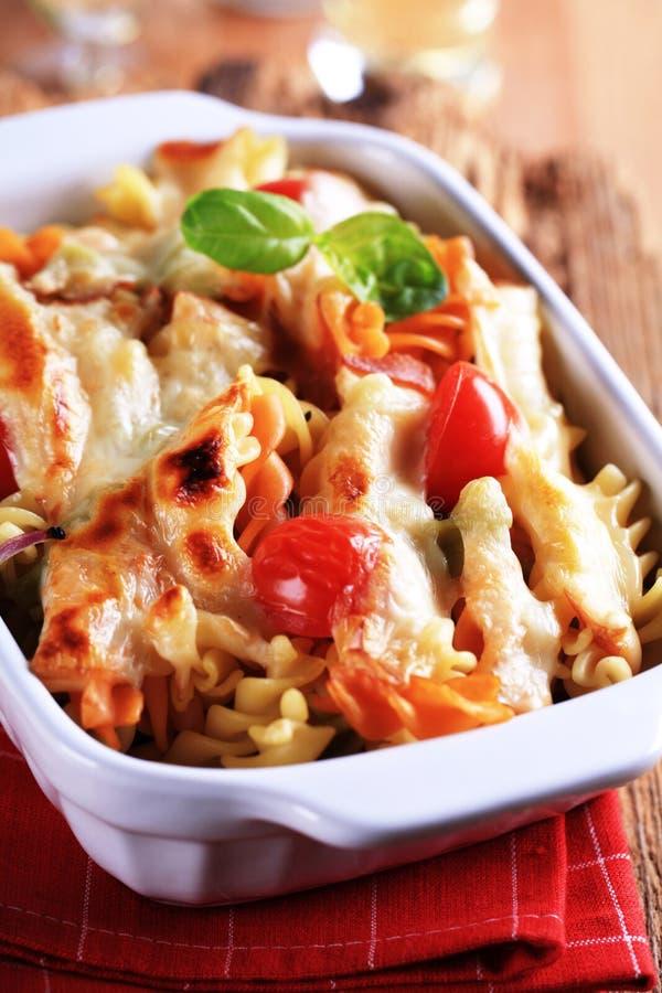 Vegetarian pasta dish royalty free stock photo
