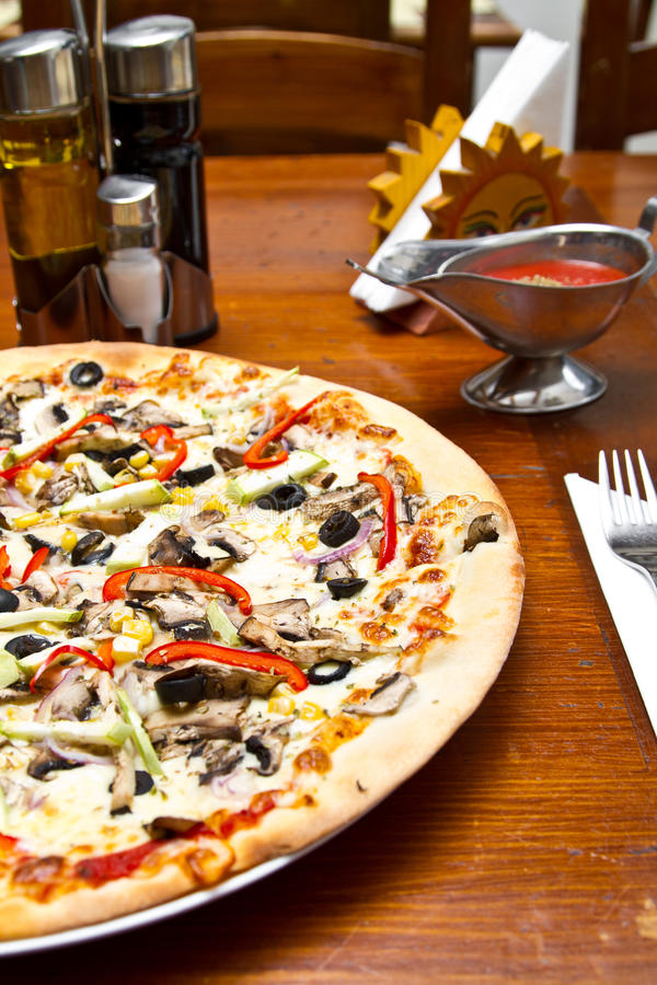 Download Vegetarian pizza stock photo. Image of crust, cuisine - 20146634