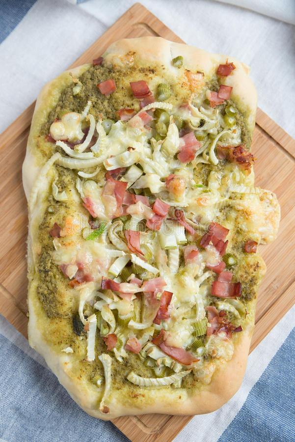 Vegetarian Pizza. Healthy home made Vegetarian Pizza royalty free stock photo
