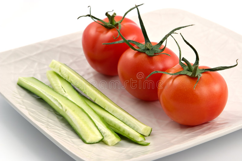 Download Vegetarian plate stock photo. Image of medicine, tomatoes - 1863292
