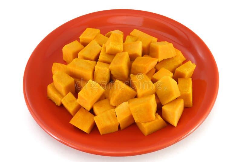 Vegetarian plate - pumpkin bites royalty free stock photo
