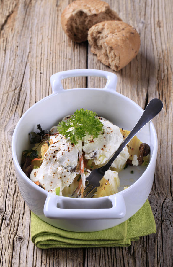 Vegetarian potato dish royalty free stock photo