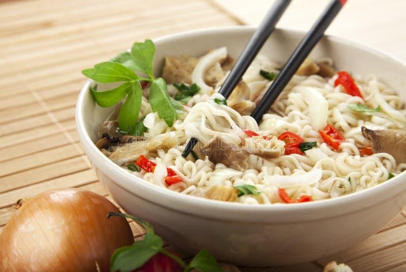 Vegetarian ramen noodles meal royalty free stock photo
