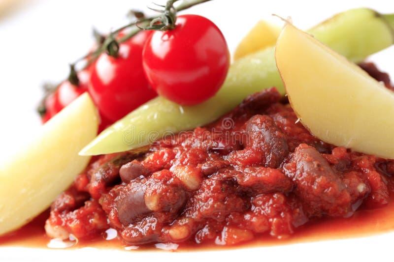 Vegetarian red bean chili stock image