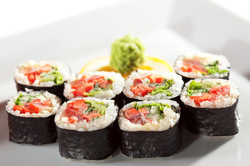 Download Vegetarian Roll Stock Image - Image: 12162301
