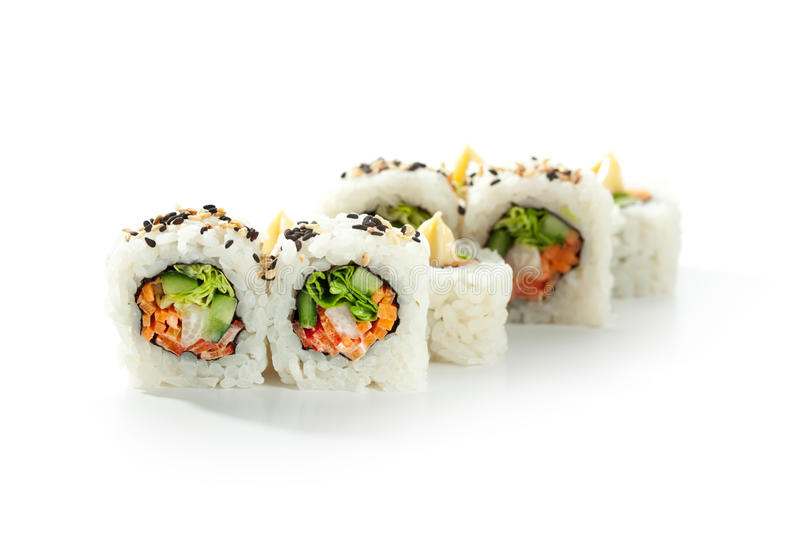 Vegetarian Roll stock photography