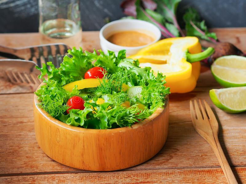 Vegetarian salad bowl for healthy eating. royalty free stock photography