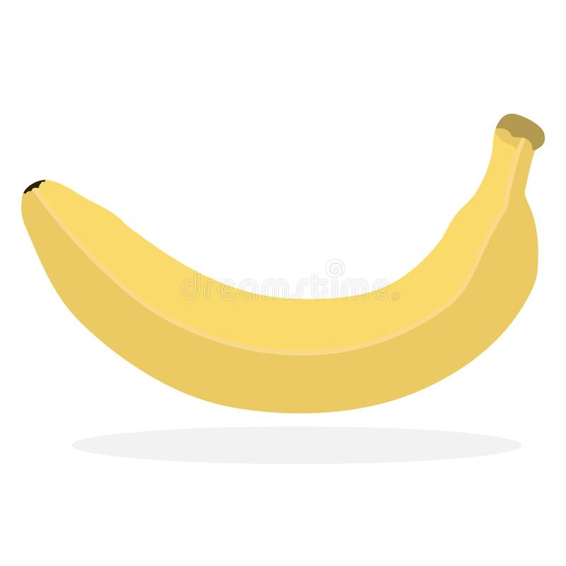 Vegetarian sign in the form of a banana. The icon for web design or printing is made in a simple vector illustration. stock illustration