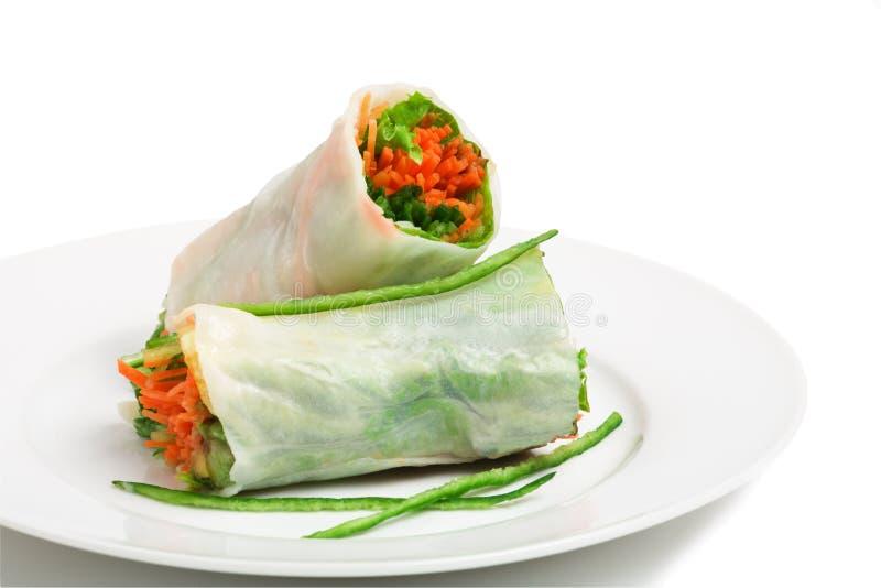 Vegetarian spring roll stock image