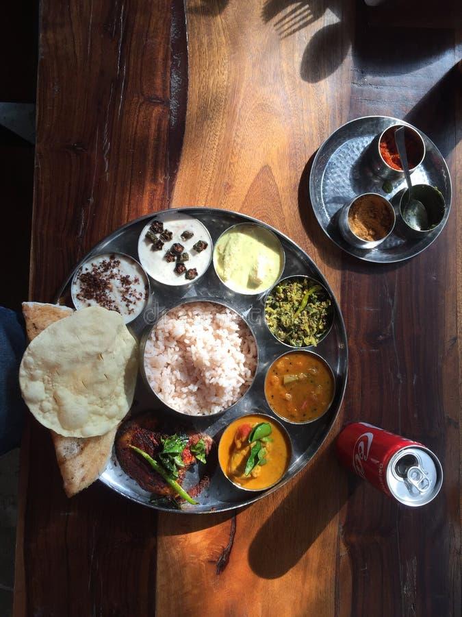 Vegetarian Thali - indisk mat royaltyfri fotografi